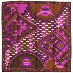Emilio Pucci Vintage Abstract Silk Carre Scarf