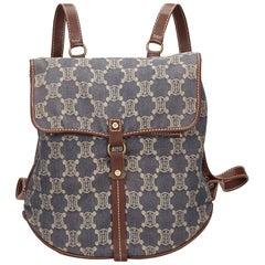 Celine Blue Macadam Denim Backpack
