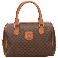 Celine Brown Macadam Handbag