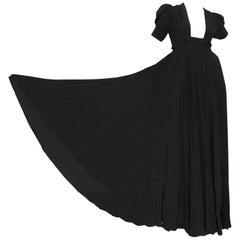 OSSIE CLARK for QUORUM Black Wrap Dress
