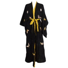 1930s Silk Kimono with Butterfly Decoration