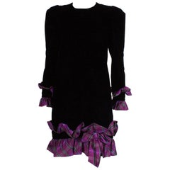 Juditte Velvet and Silk Cocktail Dress