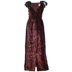 Bellville Sassoon Silk Velvet Evening Dress