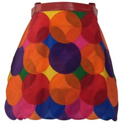 2015 Junya Watanabe Comme des Garcons circle accumulation skirt