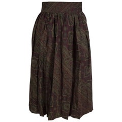Pancaldi Paisley Wool and Silk Skirt