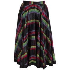 Italian Silk Skirt with Black Frilled Underskirt