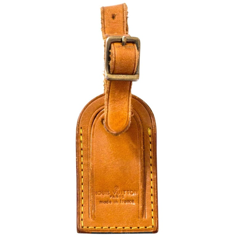 086c6197411b Louis Vuitton Small Vachetta Leather Luggage Tag For Sale at 1stdibs