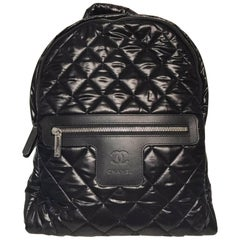 Chanel Nylon Backpack (Black, Size - OS)
