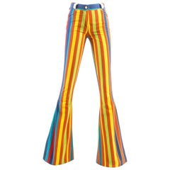 Gianni Versace striped extra wide flared pants, Spring-Summer 1993