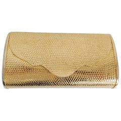 1950s Walborg Golden Metal Clutch Purse
