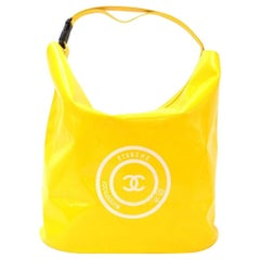 Chanel Yellow Vinyl Waterproof Large Limited Tote Bag