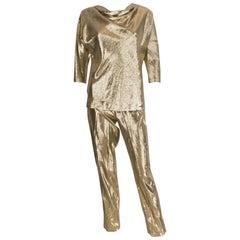 Gold Silk Pant Suit by Rich Bitch