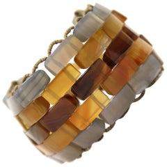 1990s Giorgio Armani Hard Stone Bracelet