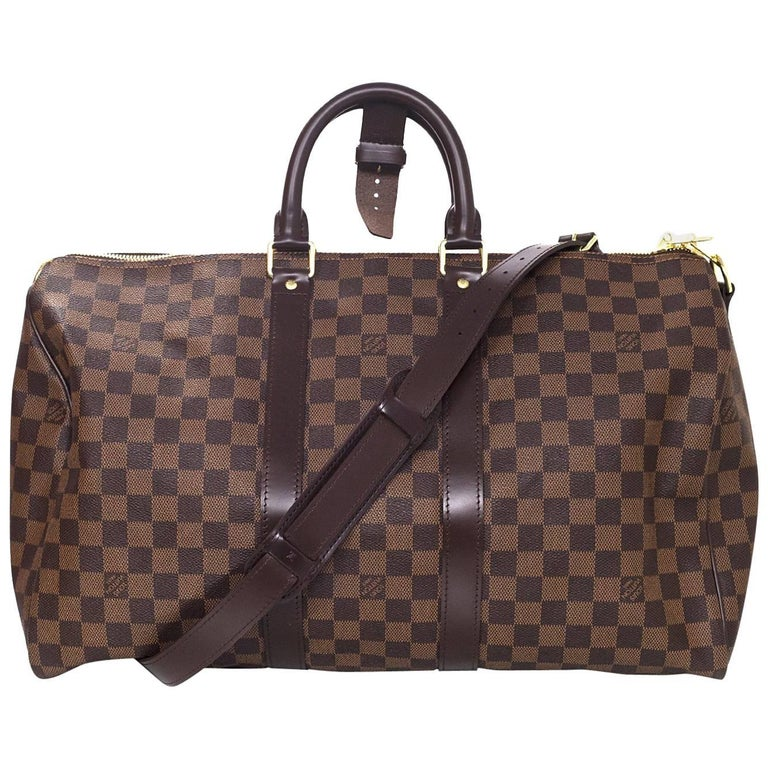 Louis Vuitton Brown Damier Keepall 45 Bandouliere with DB