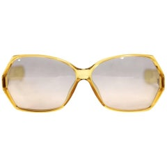 1970s Christian Dior Yellow Sunglasses