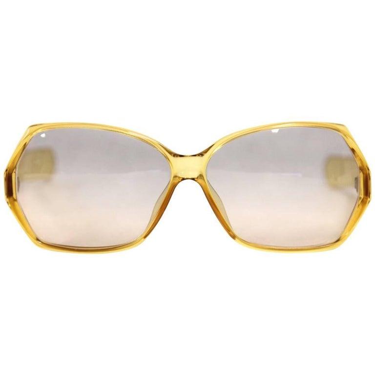 1970s Christian Dior Yellow Sunglasses