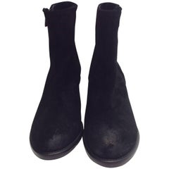 Barney's  Black Suede Ankle Booties