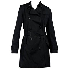 Black Burberry Double-Breasted Trench Coat