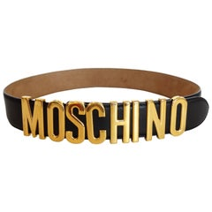 Iconic Moschino Logo Letter Belt