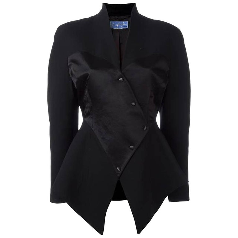 Black Wool and Satin Corset Thierry Mugler Jacket