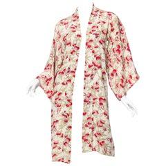 1920s Art Deco Japanese Silk Kimono Robe