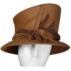 Unworn with Tags Peter Bettley Vintage Brown + Beige  Wool Hat