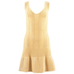 Alaia Spring-Summer 1996 beaded lemon knit cocktail sequin dress