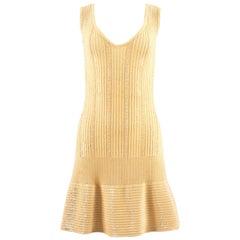 Alaia Spring-Summer 1996 beaded lemon knit cocktail sequin dress