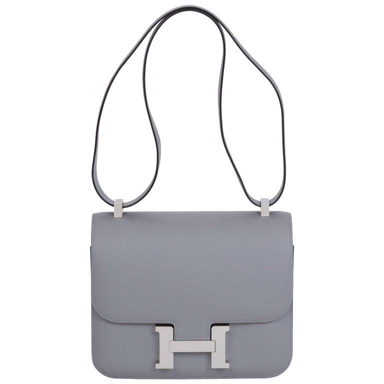 9cd447d8612 Hermes Gris Mouette Constance 24 CM Bag For Sale at 1stdibs