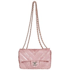 Chanel Classic Pink Sequins Evening Bag