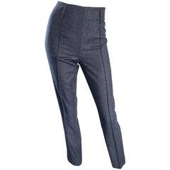 Yves Saint Laurent Fall 07 Stefano Pilati Grey High Waist Wool Cigarette Pants