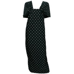 Patrick Kelly Vintage Black White Polka Dot Dress US Size 10