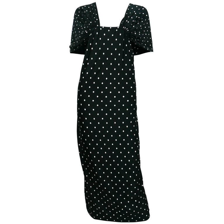 Patrick Kelly Vintage Black White Polka Dot Dress US Size 10 For Sale