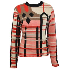 Bazar by Christian Lacroix Colour Blocked Wool Sweater