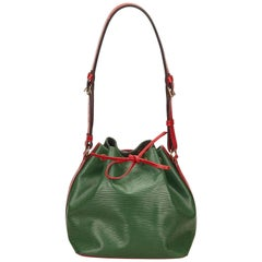 Louis Vuitton Epi Bicolour Green x Red Petit Noe