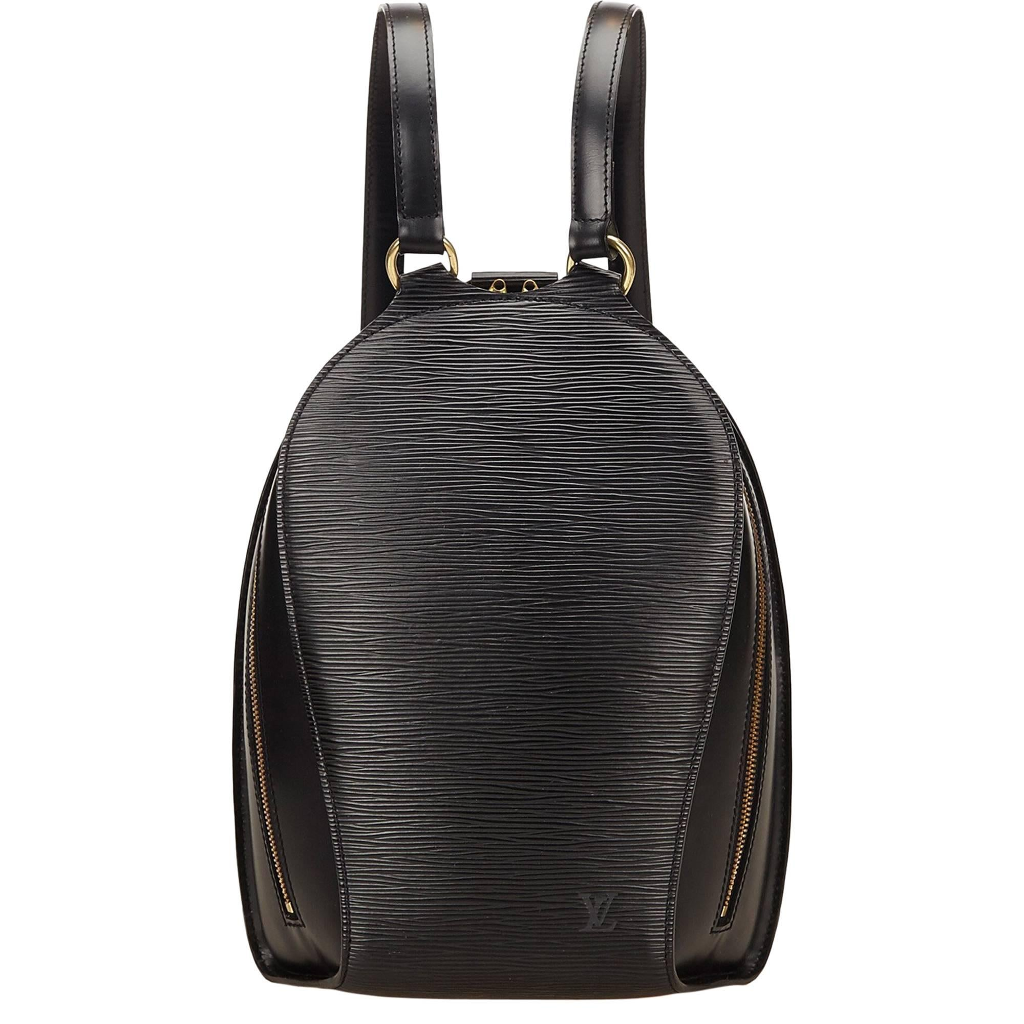 c27a1c37fd89 Louis Vuitton Black Epi Mabillon Backpack at 1stdibs