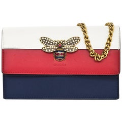 Gucci Tri-Color Queen Margaret Bee Mini Bag with Box & DB