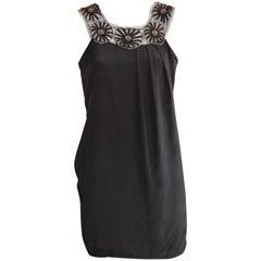 Philosophy Di Alberta Ferretti Black Silk Dress