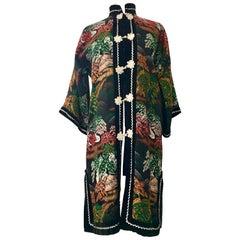 Vintage Silk Emboridered Kimono Dinner Jacket-Hong Kong
