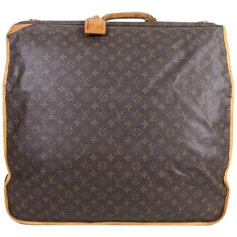 1990's Louis Vuitton Monogram Garment Bag Luggage For Sale
