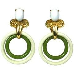 MiMi de Nardo Large Hoop Drop Earrings
