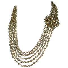 Miriam Haskell Elaborate Multi Strand Necklace