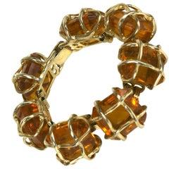 Ledo Caged Topaz Link Bracelet