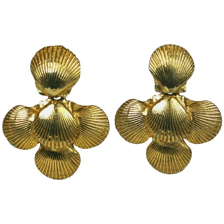 Mimi Di Nardo Shell Earclips For Sale