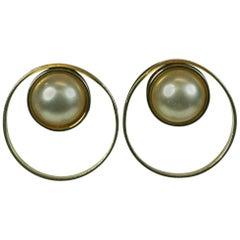 Pellini Bijoux Pearl Saturn Earrings