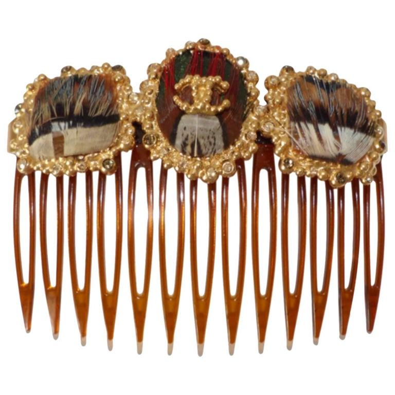 Rare Chanel Paris Edimbourg Hair Comb / LIKE NEW  For Sale