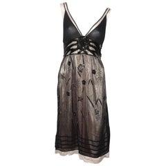 MA-GNI-FIC John Galliano Silk Pearls Dress  / Excellente Condition