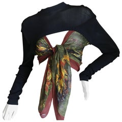 Jean Paul Gaultier Maille Unusal Cropped Vitage Sweater with Attached Scarves