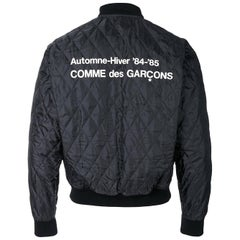 Comme Des Garçons Black re-edition 1984 85 staff quilted bomber jacket