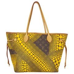 Rare Louis Vuitton Yellow Waves Neverfull MM Designed By Yayoi Kusama